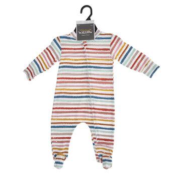 Striped Zipper Footie Creeper - 3-6 Months
