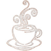 Coffee With Steam Metal Wall Decor
