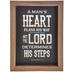 Proverbs 16:9 Wood Wall Decor