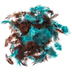 Turquoise & Brown Guinea Hen Plumage