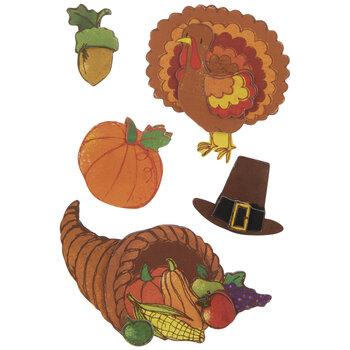 Thanksgiving Turkey 3D Stickers