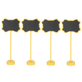 Yellow Ornate Chalkboard Stands