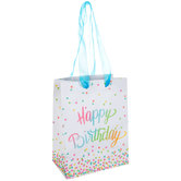 Happy Birthday Confetti Gift Bag