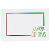 Rainbow Foil Adhesive Gift Tags