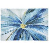 Blue Flower Canvas Wall Decor