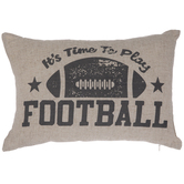 Time To Play Football Pillow