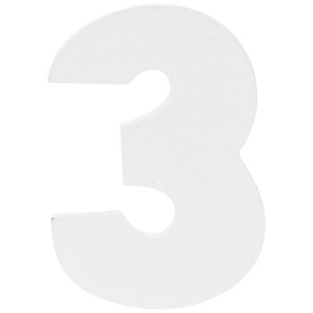 """White Wood Numbers 3 - 2"""""""