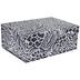 Black Zebra & Cheetah Print Box - Large