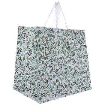Green Watercolor Leaves Gift Bag