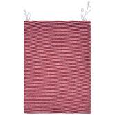 Red & White Striped Drawstring Gift Bag