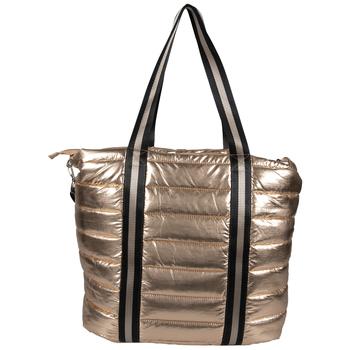 Copper Metallic Puff Tote Bag