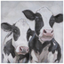 Pair Of Cows Canvas Wall Decor