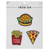 Burger, Fries & Pizza Iron-On Appliques