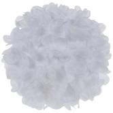 White Floral Decorative Sphere