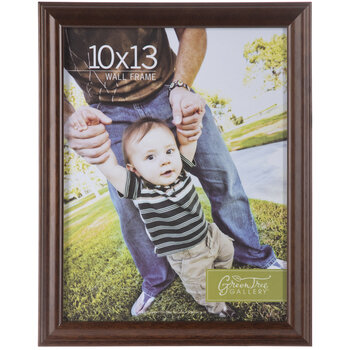 Brown Beveled Wood Wall Frame