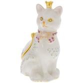 Cat Wearing Tiara Jewelry Box