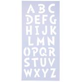 """Uppercase Student Alphabet Stencils - 2"""""""