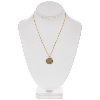 10K Gold Plated Bird Seal Necklace