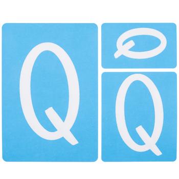 Fun Font Monogram Adhesive Stencils - Q