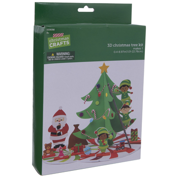 Christmas Tree Scene Foam Craft Kit