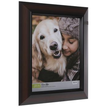 Dark Walnut Two-Tone Wood Wall Frame