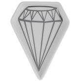 White & Gray Diamond Jewelry Dish