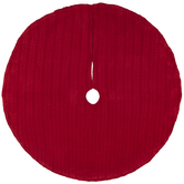 Red Cable Knit Tree Skirt