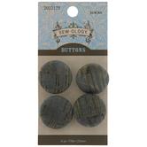 Teal Metallic Cork Shank Buttons - 23mm