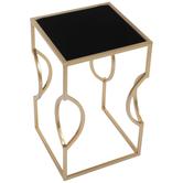 Gold & Black Metal Side Table