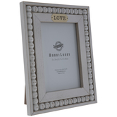 "Love Beaded Wood Frame - 5"" x 7"""