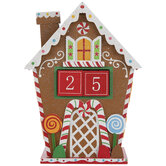 Gingerbread House Wood Countdown