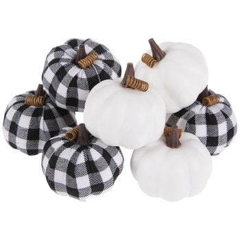 Black & White Buffalo Check Pumpkins