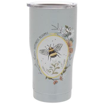 Happiness Blooms Bee & Flowers Metal Cup