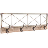 Rustic Metal Wall Decor With Hooks