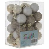 Mini Gold Shiny, Matte & Glitter Ball Ornaments
