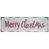 Merry Christmas Galvanized Metal Wall Decor