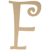 """Curly-Q Wood Letter - 8"""""""