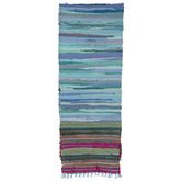Multi-Color Chindi Striped Table Runner