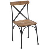 Farmhouse Rustic Metal Chair