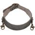 Black Textured Thin Leather Bracelet
