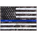 Blue Line American Flag Wood Wall Decor