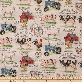 Dairy Farm Cotton Calico Fabric