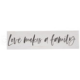 Love Makes A Family Wood Magnet