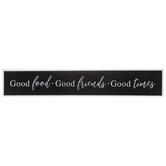 Good Food Good Friends Good Times Wood Wall Decor