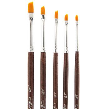 Gold Nylon Shader Paint Brushes - 5 Piece Set