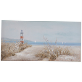 Beach Lighthouse Canvas Wall Decor