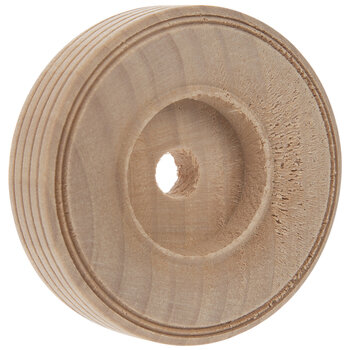 "Wood Tread Wheels With 3/8"" Hole"