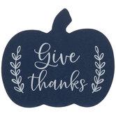 Give Thanks Wood Pumpkin