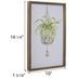 Green Hanging Plant Wood Wall Decor