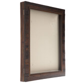 Dark Walnut Slatted Wood Shadow Box